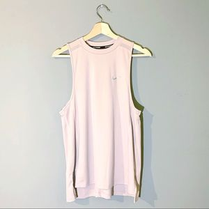 Nike | Tank Dri Fit Running Pale Pink Muscle Med